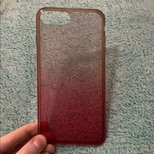 Accessories - pink and clear ombré phone case
